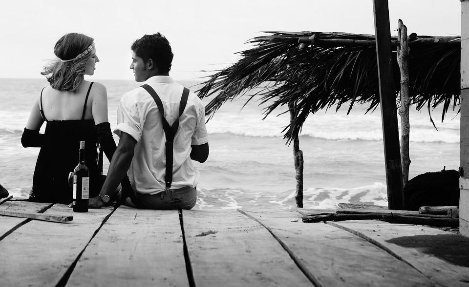 People, Beach, Love, Romance, Spring, Pairs, Date, Sea