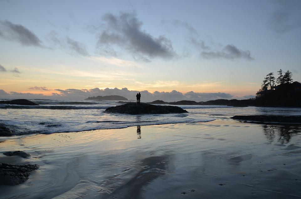 Beach, Sunset, Love, Couple, Sky, Sunset Beach
