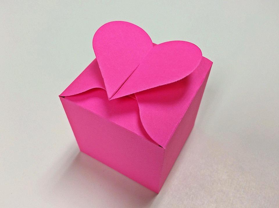 Valentine, Heart, Romance, Love, Box, Present
