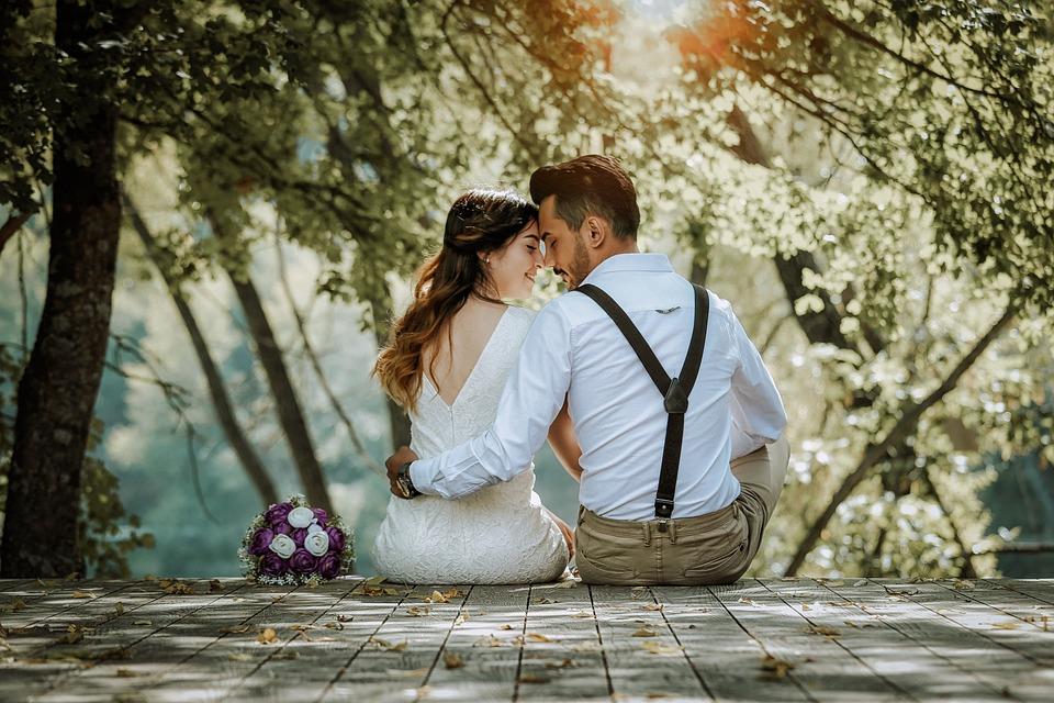 Couple, Wedding, Marriage, Bridal, Double, Love, People