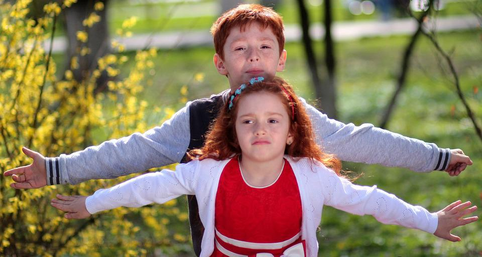Brother, Sister, Red Hair, Freckles, Play, Love, Pair