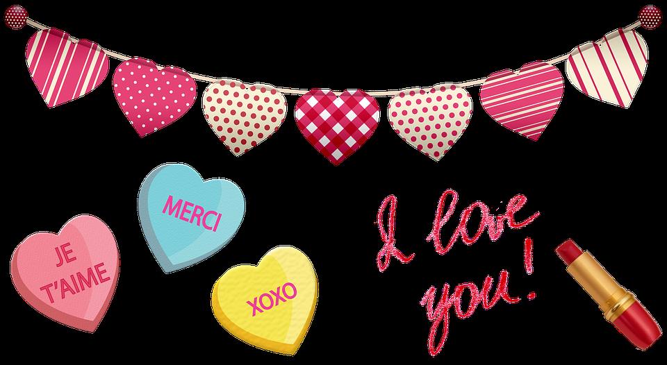 Valentine Clip Art, Hearts, Candy, Love, Romance