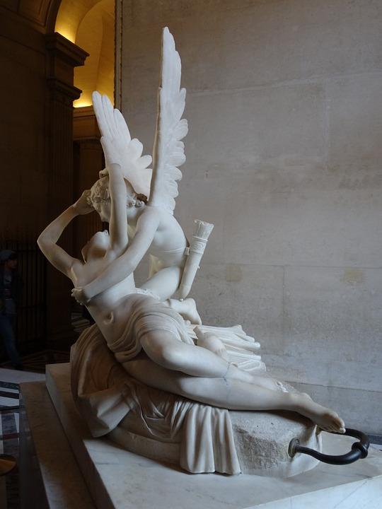Louvre, Love, Amor, Psyche, Sculpture, Paris, Canova