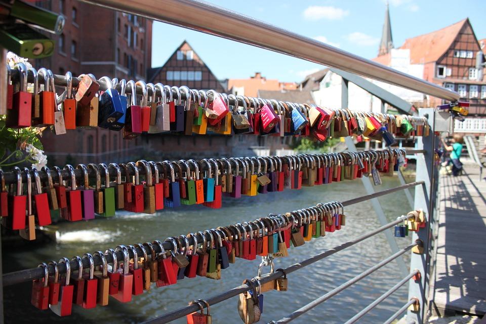 Bridge Railing, Castles, Padlocks, Connectedness, Love