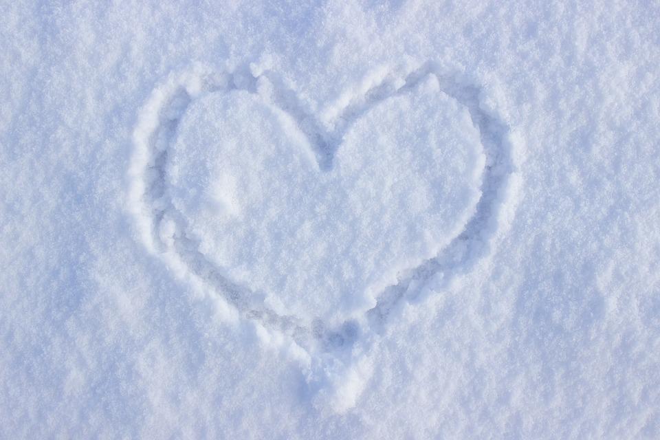 Heart, Snow, Love, Feelings, Winter, Cold, Finger Font