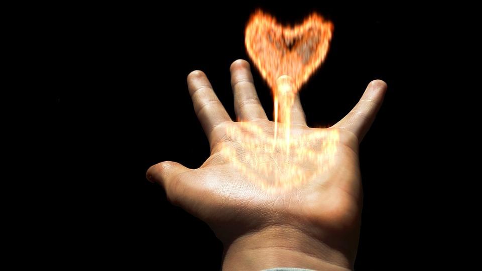 Heart, Flame, Hand, Fire, Burn, Love, Brand, Blaze