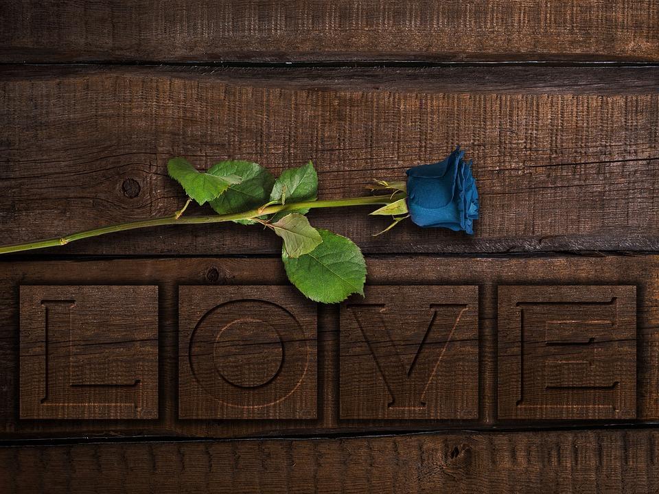 Love, Romantic, Wood Engraving, Wood, Flower, Feelings