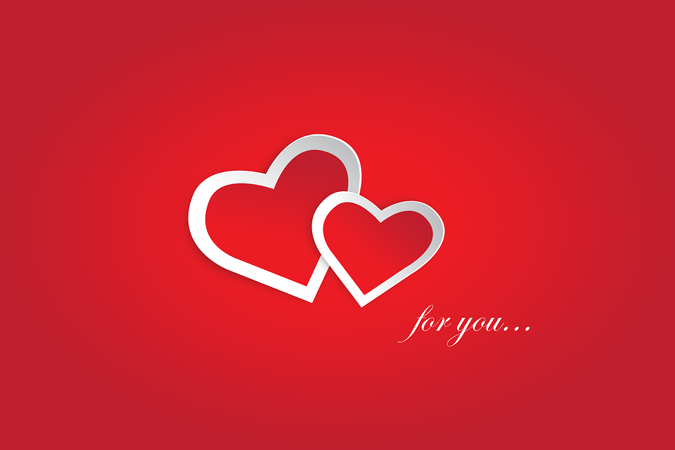 For You, Hearts, Red, Valentine, Love, Couple