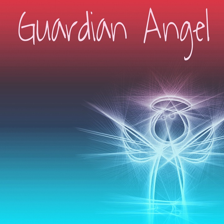 Guardian Angel, Protect, Luck, Love, Greeting Card