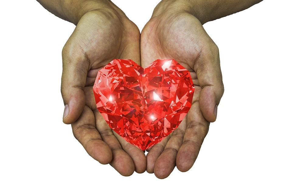 Love, Heart, Hands, Receive, Give, Valentine, Diamond