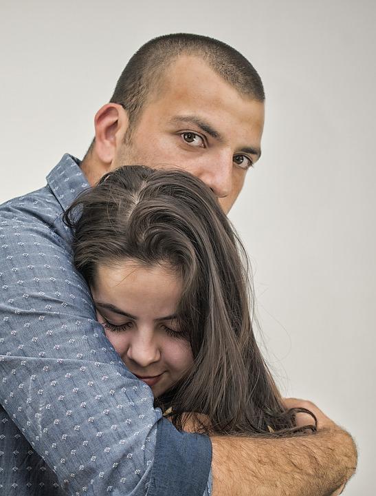 Love, Hug, A Couple Of, Romance, Happy