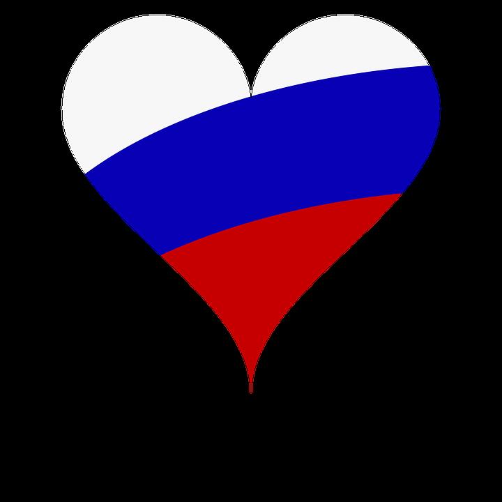 Heart, Love, Flag, Russia