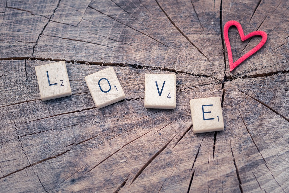 Love, Letters, Heart, Valentine, Scrabble, Affection
