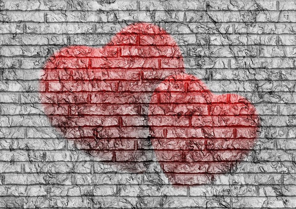Heart, Love, Graffiti, Wall, Dirty, Background