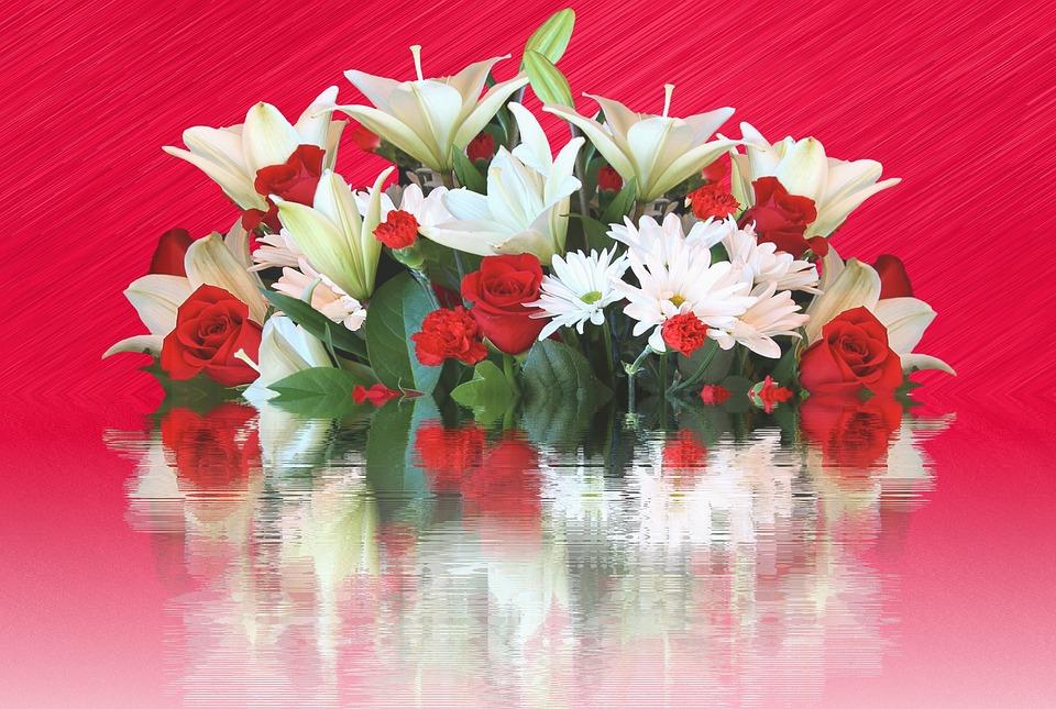 Lilies, Roses, Bouquet, Birthday Bouquet, Love, Color