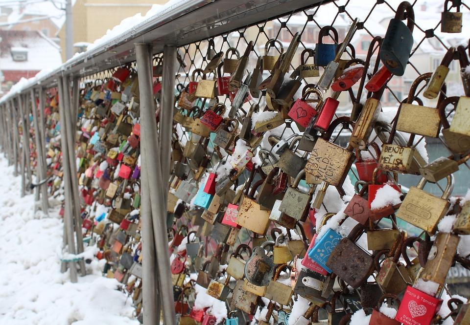 Castle, Love, Graz, Love Locks, Padlock, Bridge