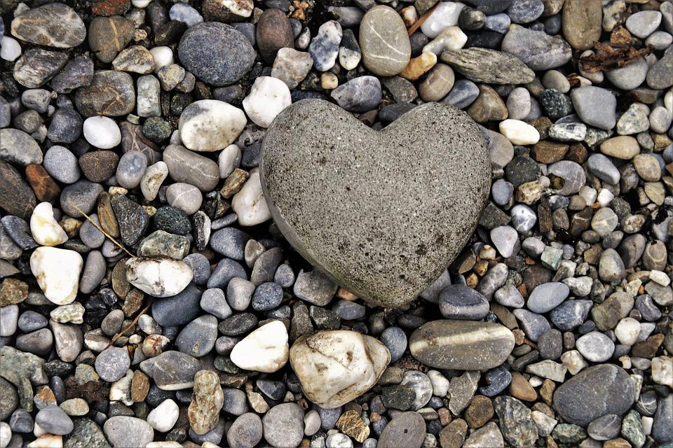 The Stones, Heart, Gray, Love, Symbol, Feelings, Model