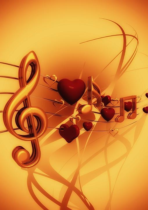 Clef, Music, Love, Heart, Treble Clef, Sound, Texture