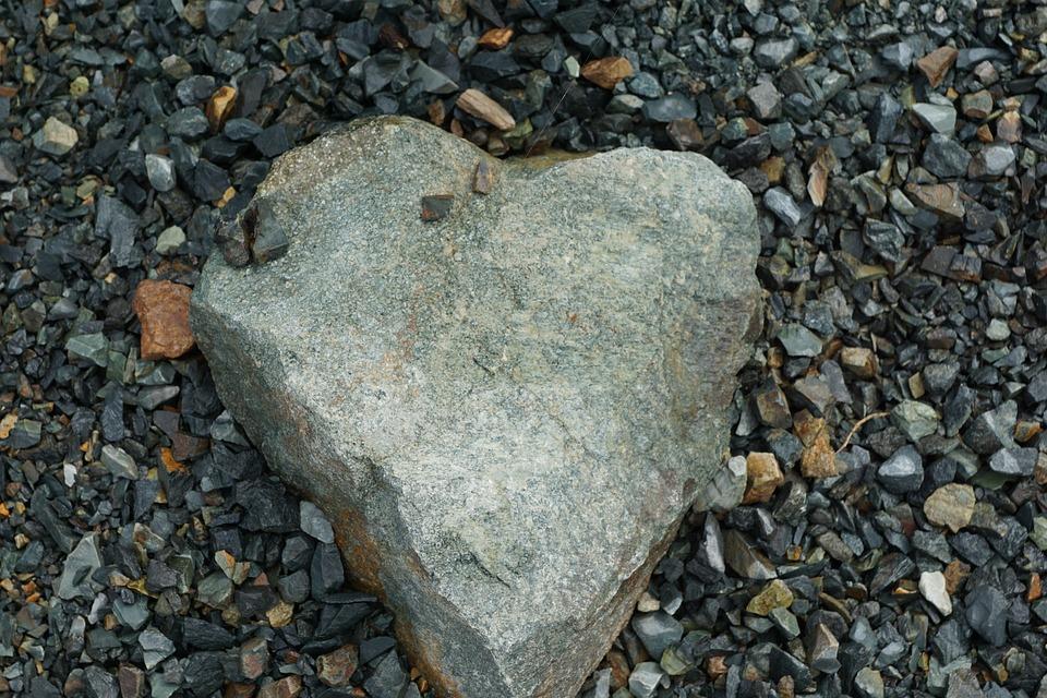 Stone, Heart, Love, Nature
