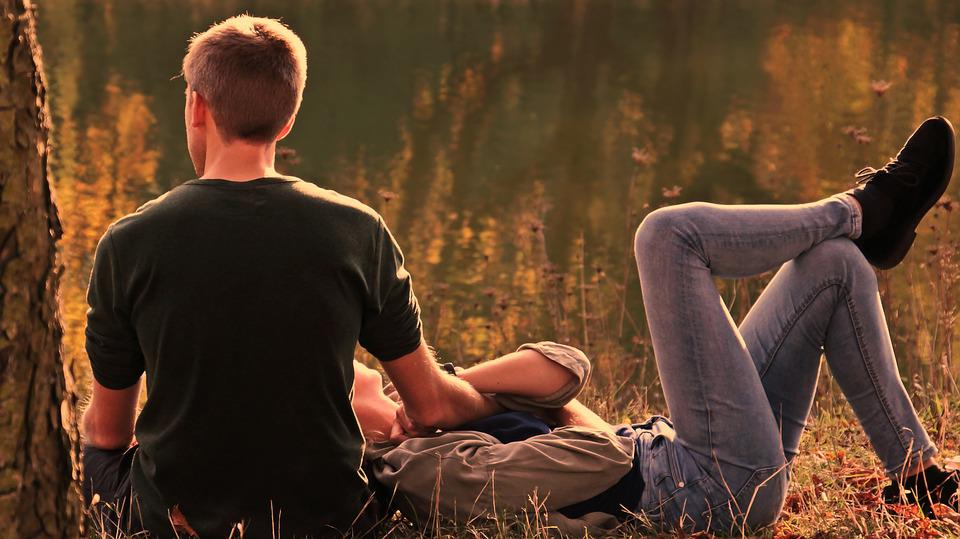Couple, Love, Outdoors, Pair, Park, Lovers, Man, Male