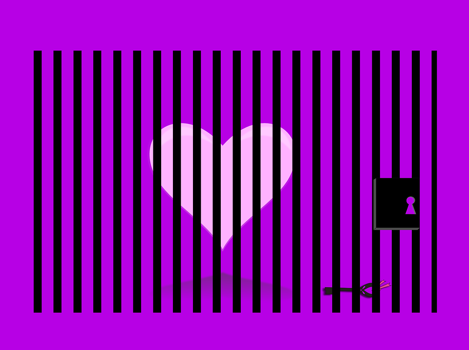 Heart, Pink, Purple, Prisoner, Thoughts, Love