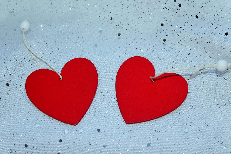 Heart, Red Heart, Two Hearts, Symbol, Love