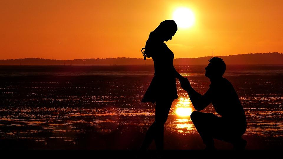 Sunset, Couple, Love, Romantic, Romance, People, Set