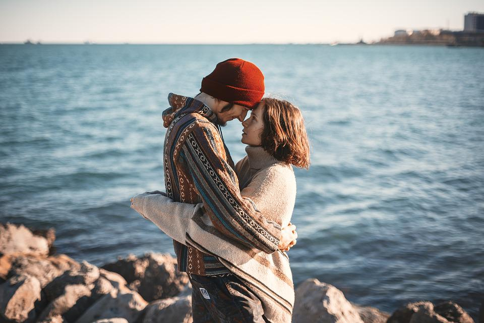 Couple, Happy, Man, Love, Romance, Hug, Look, Woman