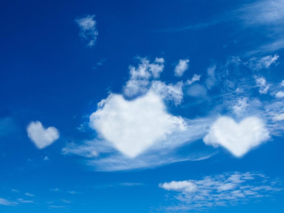 Heart, Cloudy, Love, Clouds, Nature, Grateful, Sky