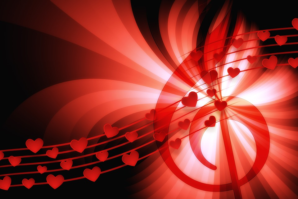 Free Photo Love Song Music Heart Love Abstract Tail Star Max Pixel