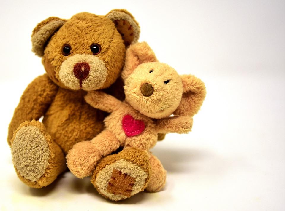 Teddy, Mouse, Heart, Love, Stuffed Animal, Soft Toy