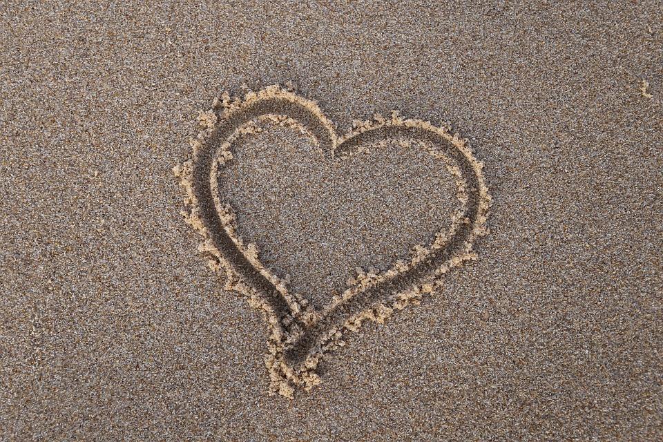 Heart, Sand, Beach, Summer, Sea, Love, Vacation, Travel