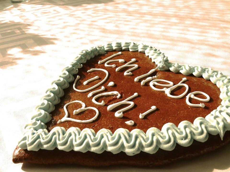 Gingerbread Heart, Heart, Love, Sweet, Feelings