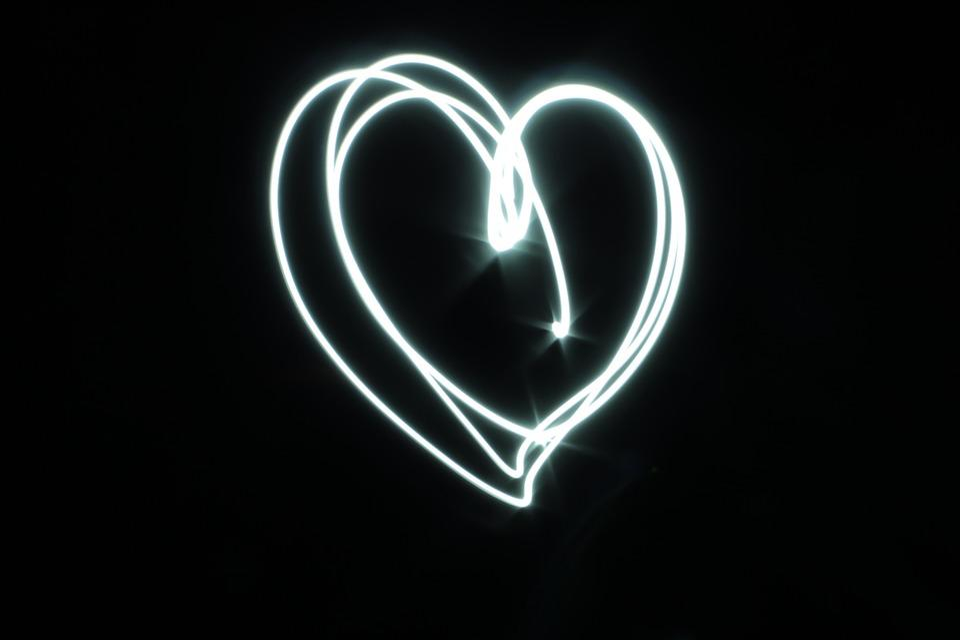 Free Photo Love Symbol White Black Light Heart Heart Shape Max Pixel