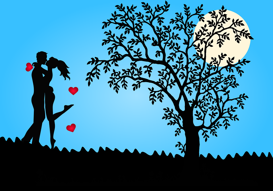 Romance, Couple, Love, Together, Happiness, Silhouette