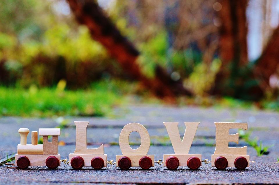 Love, Train, Wood, Toys, Romance, Affection