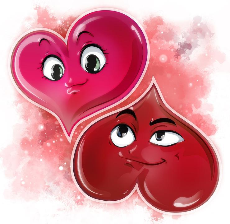 Free Photo Love Valentine S Day Cartoon Partner Red Heart Max Pixel