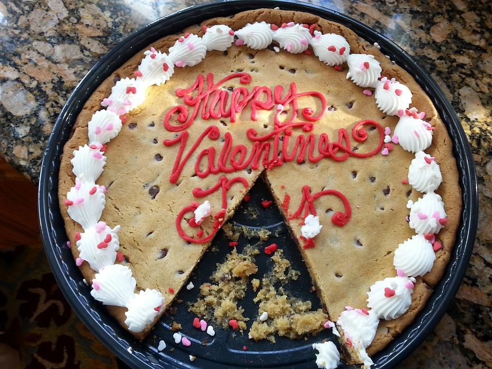 Cookie, Valentines Day, Love, Sweet, Chocolate Chips