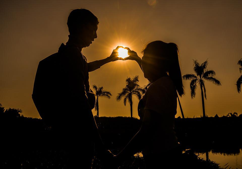 Reverse Sun, Love, Romantic, Women, Girl, Man, Sunny