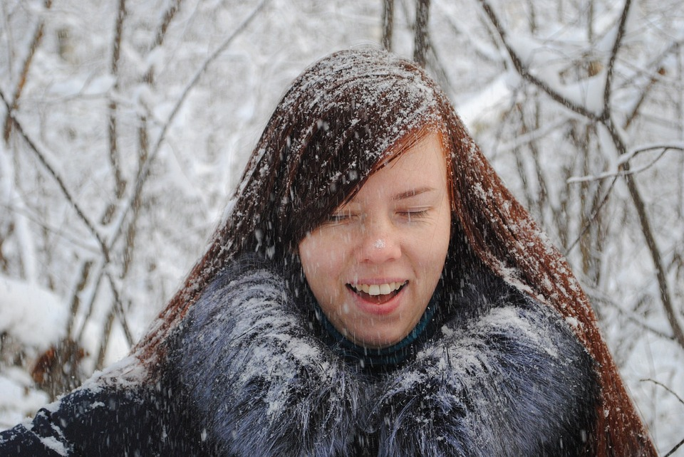 Winter, Coldly, Snow, Portrait, Woman, Person, Lovely
