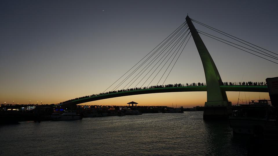 Sunset Under The Bridge, Lover Bridge, Bridge
