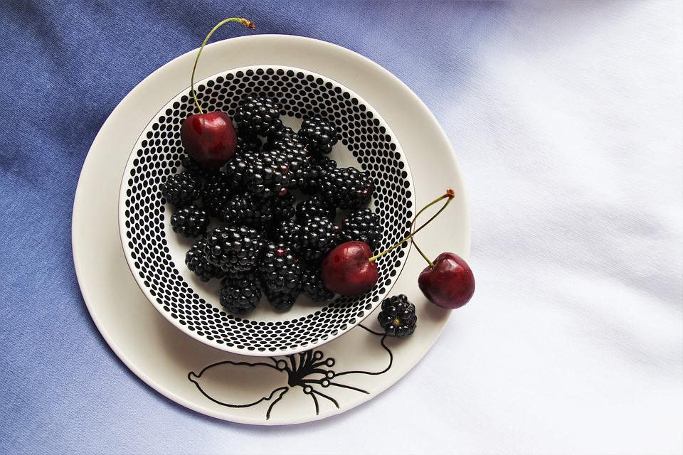 Low Calorie, Bio, Fruit, Detox, Blackberries, Eat