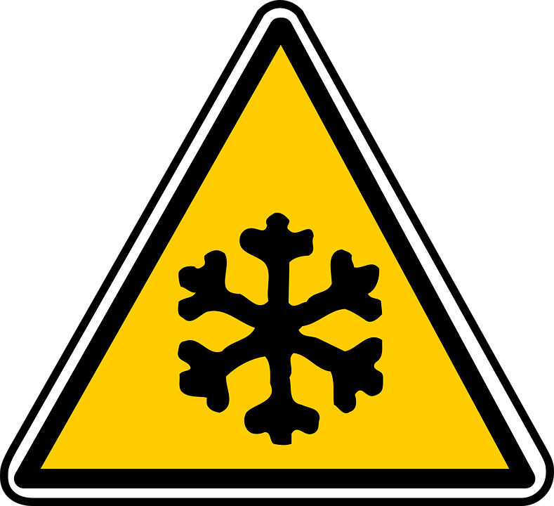Signs, Ice, Snow, Frozen, Low Temperature, Warning