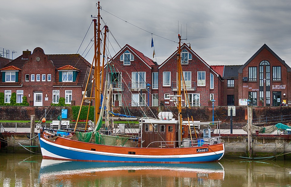 Sailing Boat, East Frisia, Lower Saxony, Port