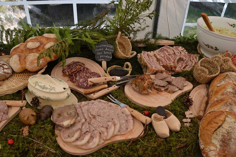 Delicatessen, Buffet, Sausage, Ham, Lozère Table