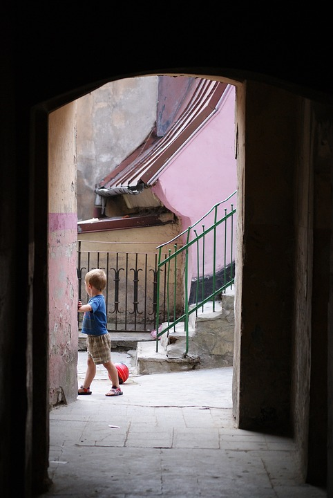 Boy, The Ball, Gateway, Old, City, Lublin, Lubelskie