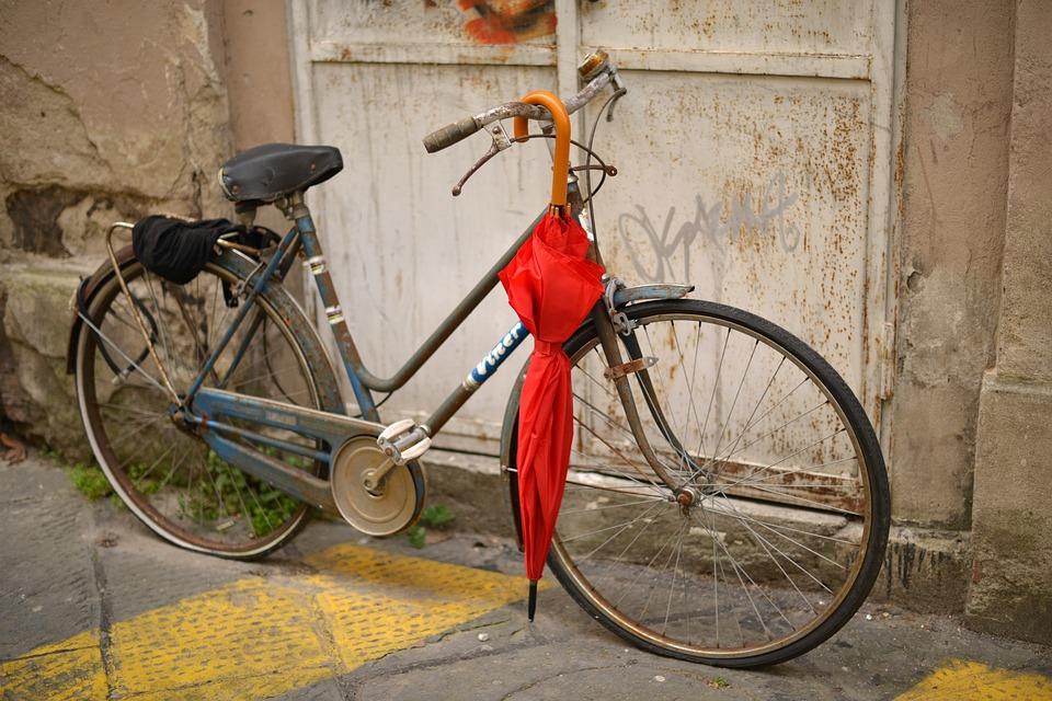 Lucca, Italy, Bike, Umbrella