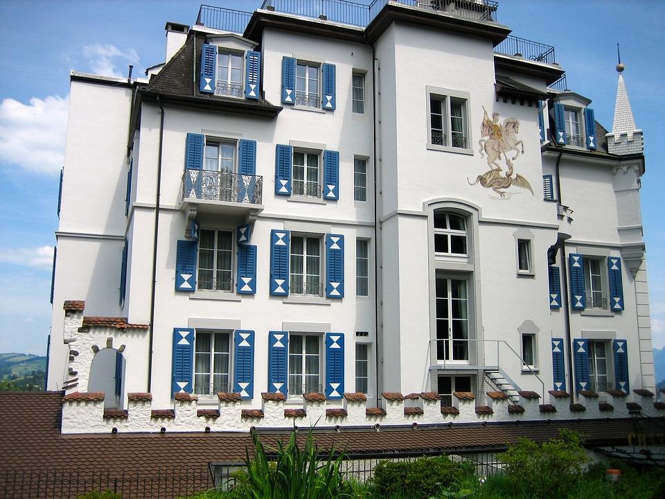 Chateau Gütsch, Lucerne, Switzerland, Castle