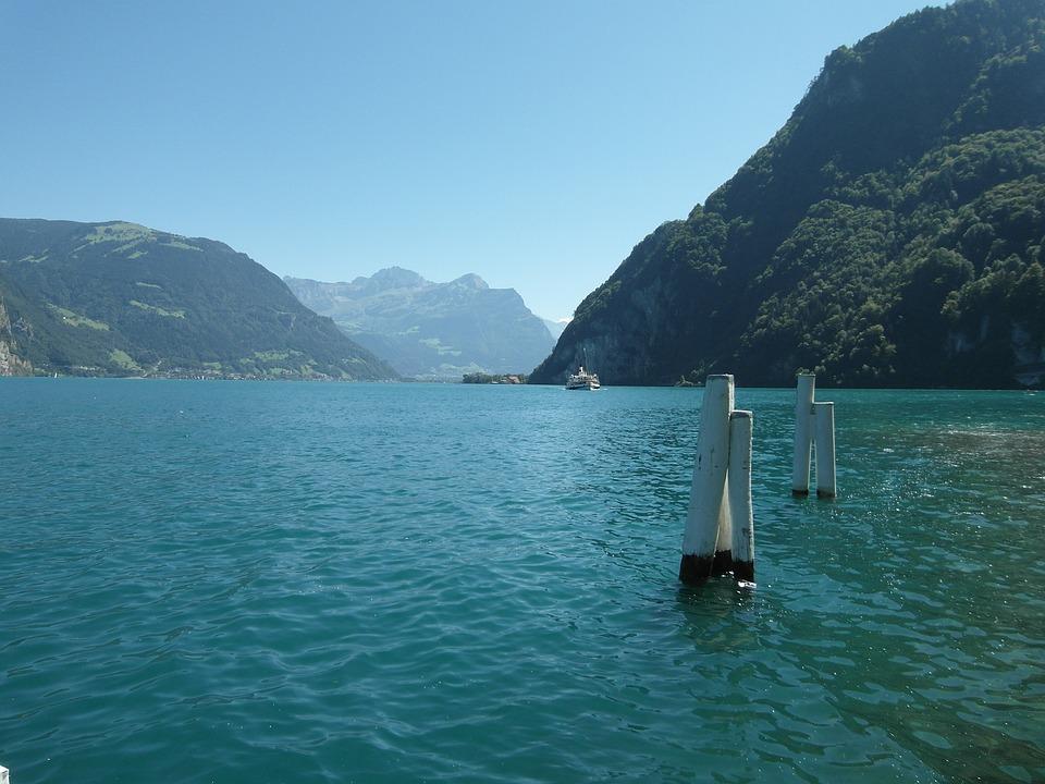 Lake Lucerne Region, Ship, Steamboat, Lucerne