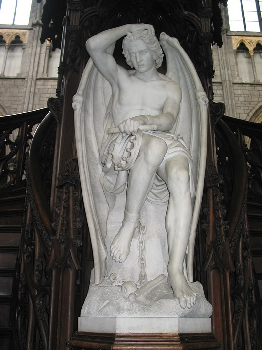 Lucifer, Cathedral, Liege, Statue, Stonework, Stone